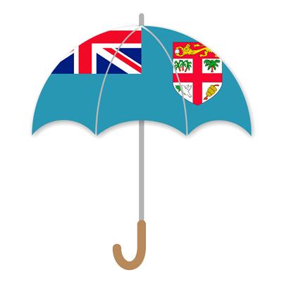 フィジー共和国の国旗-傘
