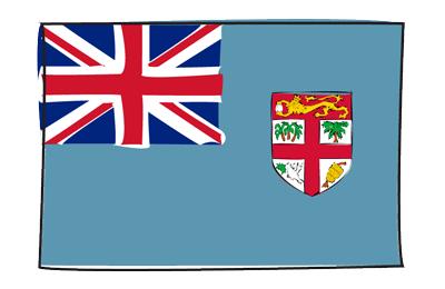 フィジー共和国の国旗-グラフィティ