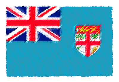 フィジー共和国の国旗-パステル