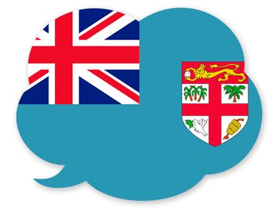 フィジー共和国の国旗-吹き出し