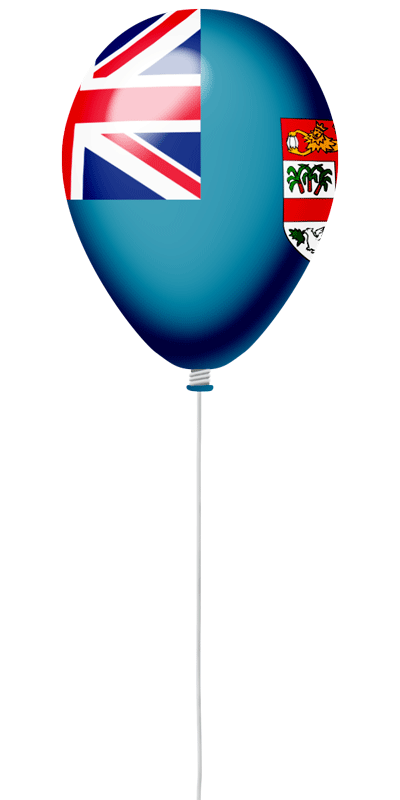 フィジー共和国の国旗-風せん