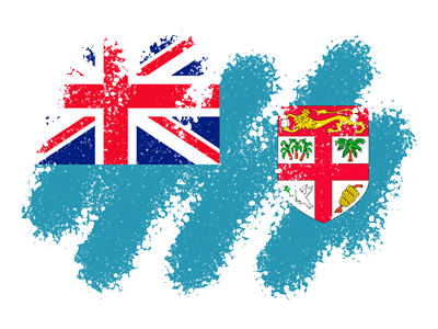 フィジー共和国の国旗-クレヨン1