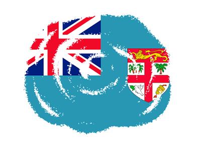 フィジー共和国の国旗-クラヨン2