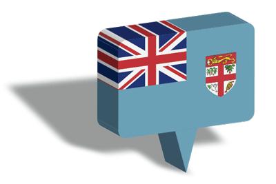 フィジー共和国の国旗-マップピン