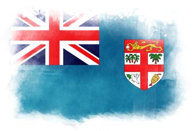 フィジー共和国の国旗-水彩風