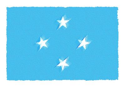 ミクロネシア連邦の国旗-パステル