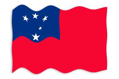 サモア独立国の国旗-波