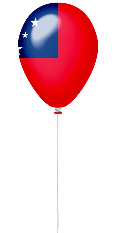 サモア独立国の国旗-風せん