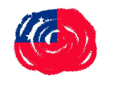 サモア独立国の国旗-クラヨン2