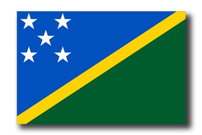 ソロモン諸島の国旗-ドロップシャドウ