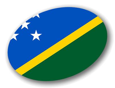 ソロモン諸島の国旗-楕円