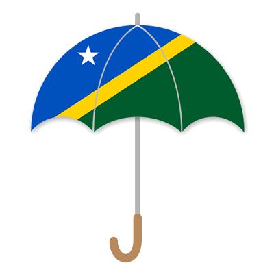 ソロモン諸島の国旗-傘