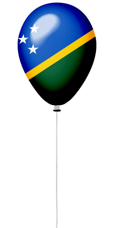 ソロモン諸島の国旗-風せん