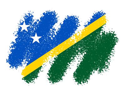 ソロモン諸島の国旗-クレヨン1