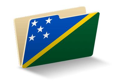 ソロモン諸島の国旗-フォルダ