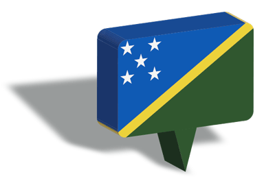 ソロモン諸島の国旗-マップピン