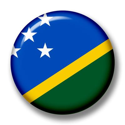 ソロモン諸島の国旗-缶バッジ