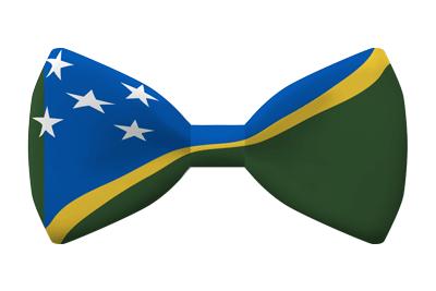 ソロモン諸島の国旗-蝶タイ