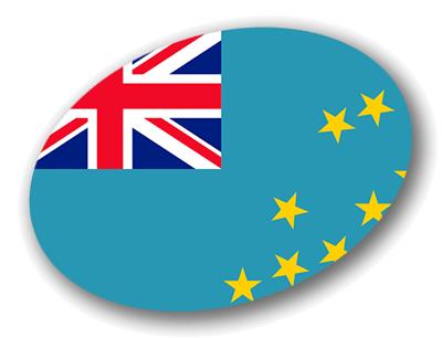 ツバルの国旗-楕円