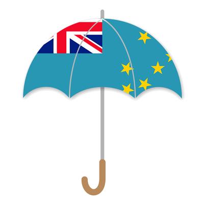 ツバルの国旗-傘