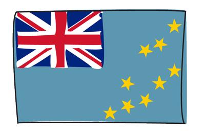ツバルの国旗-グラフィティ