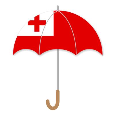 トンガ王国の国旗-傘