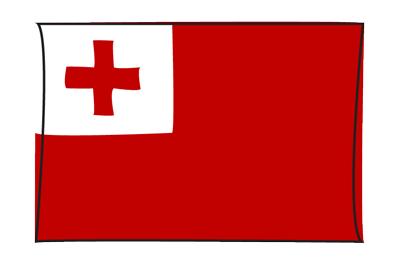 トンガ王国の国旗-グラフィティ