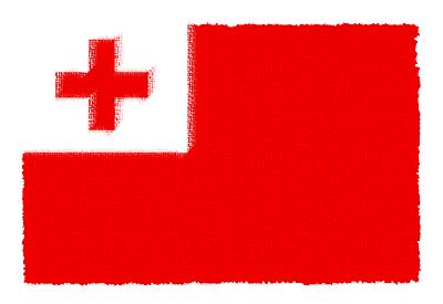 トンガ王国の国旗-パステル