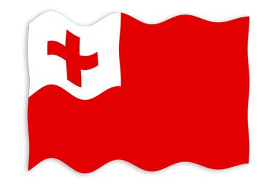 トンガ王国の国旗-波