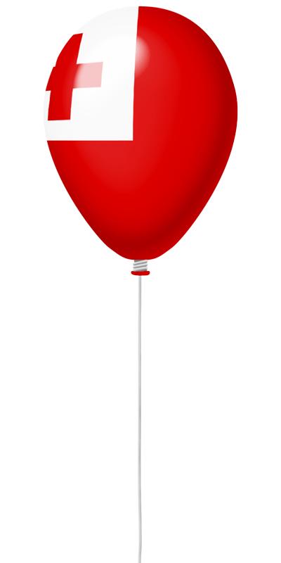 トンガ王国の国旗-風せん