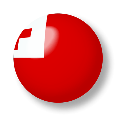 トンガ王国の国旗-ビー玉