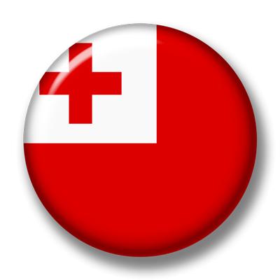 トンガ王国の国旗-缶バッジ