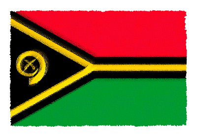 バヌアツ共和国の国旗-パステル