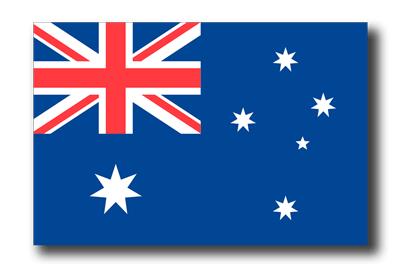 オーストラリアの国旗-ドロップシャドウ