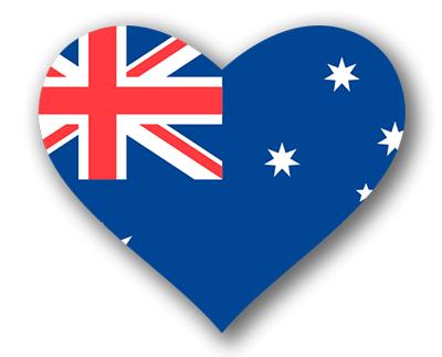 オーストラリアの国旗-ハート