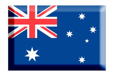 オーストラリアの国旗-板チョコ
