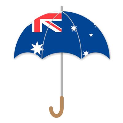 オーストラリアの国旗-傘
