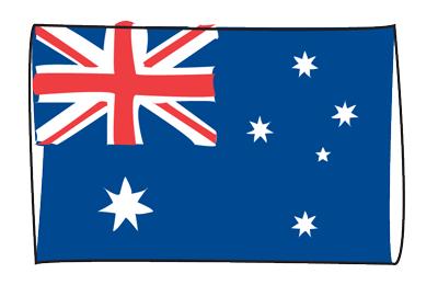 オーストラリアの国旗-グラフィティ