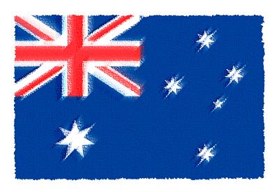 オーストラリアの国旗-パステル