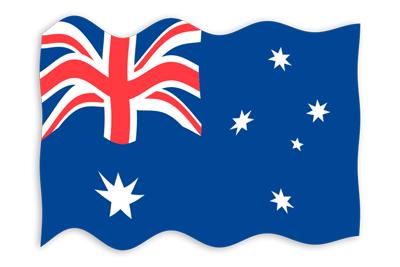 オーストラリアの国旗-波