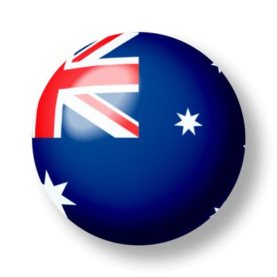 オーストラリアの国旗-ビー玉