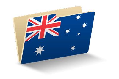 オーストラリアの国旗-フォルダ