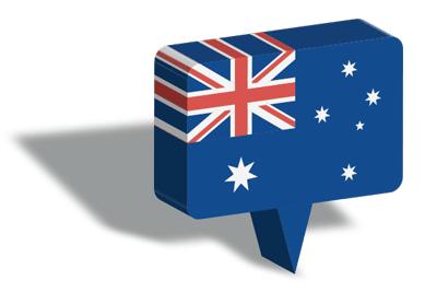 オーストラリアの国旗-マップピン