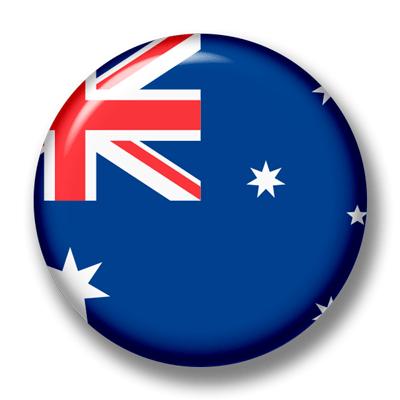 オーストラリアの国旗-缶バッジ