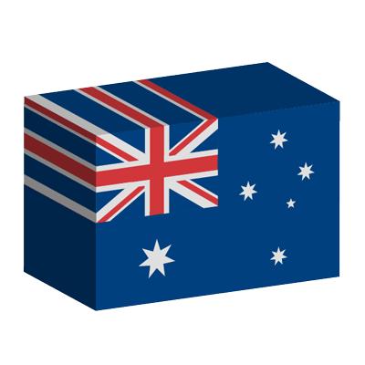 オーストラリアの国旗-積み木