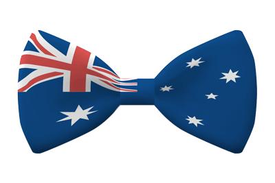 オーストラリアの国旗-蝶タイ