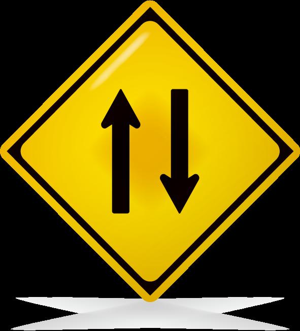 二方向通行-アイコン-文字なし