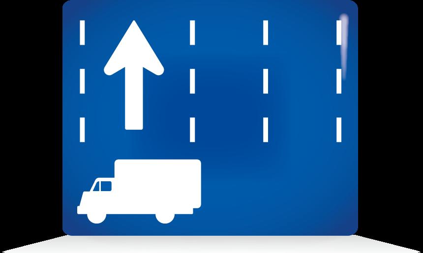 特定の種類の車両の通行区分-アイコン-文字なし