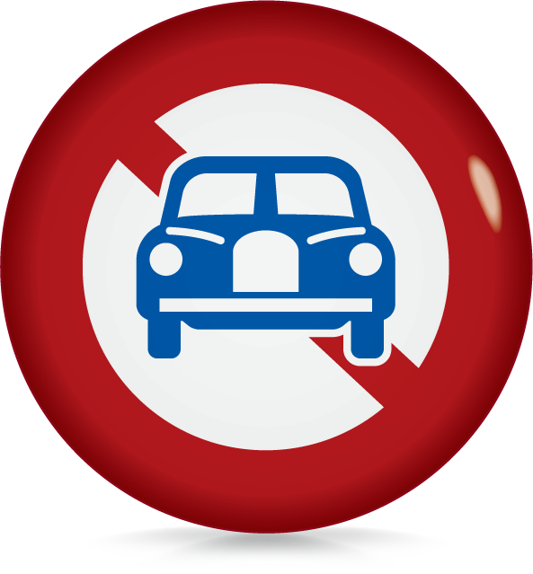 二輪の自動車以外の自動車通行止め-アイコン-文字なし