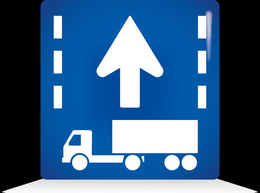 牽引自動車の自動車専用道路第一通行帯通行指定区間-アイコン-文字なし